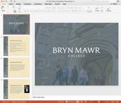 College Ppt Templates Powerpoint Templates Bryn Mawr College