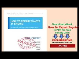 How To Repair Toyota 3y Engine - YouTube