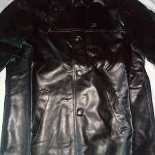 a emporio collezione black leather jacket large men s fashion