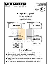 chamberlain garage door opener manualDownload free pdf for Chamberlain LiftMaster 12552R Garage Door