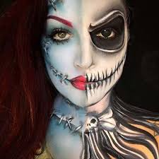 jack and sally for creepy makeup ideas