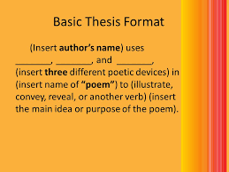 how to write a poem analysis essay ppt video online  basic thesis format