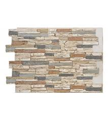 faux deep stacked stone wall panels
