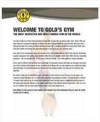 gym membership offer letter template