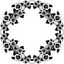 Black And White Vintage Design Clipart Vintage Floral Design Big Image Png Black White