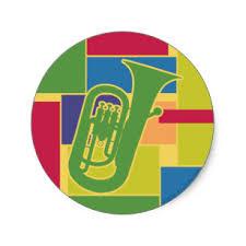 euphonium colorblocks sticker