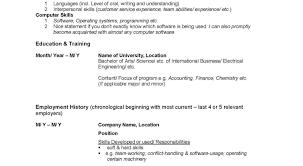 Resume Job Resume Outline Format Of Resume For Job Application