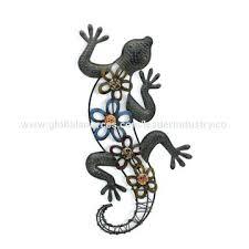 china new metal lizard ornament wall art uk  on chinese metal wall art uk with lizard wall decor gecko indoor outdoor metal art southwest by steel
