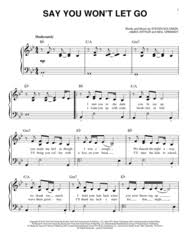 say you won t let go sheet music download say you wont let go sheet music by james arthur sheet