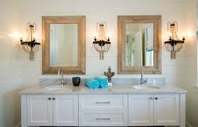 image of amazing wood framed bathroom mirrors