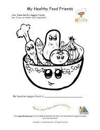 Small Picture Healthy Foods Coloring Page For Young Children