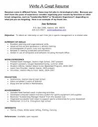 How To Write A Great Resume New Write A Great Resume How Writing Good Excellent Throughout To