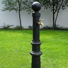 decorative faucet post lawn and
