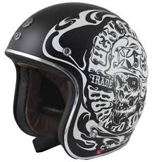 torc dot 3 4 motorcycle helmet smoke skull