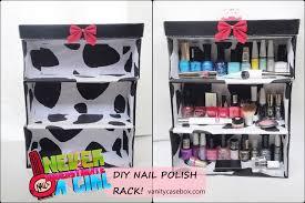 diy nail polish rack
