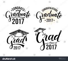 congratulations to graduate congratulations graduate 2017 set graduation labels stock vector