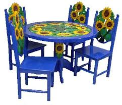 painted mexican furnitureInnovative Ideas Mexican Dining Table Amazing Mexican Painted