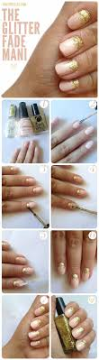 glitter fade manicure for short nails pinit
