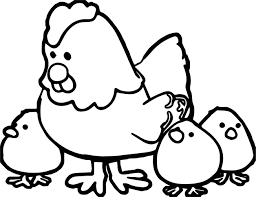 Small Picture Hen With Chicks Family Coloring Page Wecoloringpage