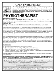 Cover Letter Assistant Physiotherapist Resume Physiotherapy