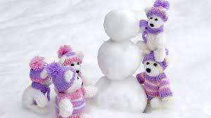 snow teddy bear free background desktop images wallpaper