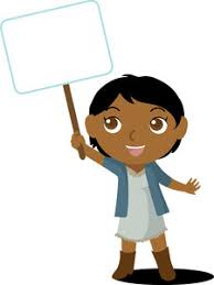 Image result for child holding sign clipart