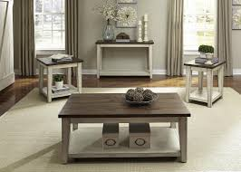 white end tables and coffee table sets ideas liberty furniture lancaster rustic with light distressing wayside
