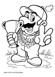 Super Mario Coloring Page Uticureinfo