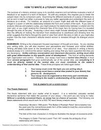Writing A Literary Analysis How To Write A Literary Analysis Essay