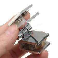 Glass Door Cabinet Hinges 180 Degree Clamp Hinge Double Action For 5 8mm Glass Door Cupboard