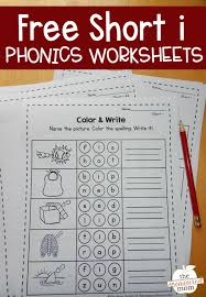 Phonics worksheets and online activities. Worksheets For Short I Words The Measured Mom
