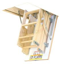 4 section x wooden loft ladder hatch h up to ladders with handrail deluxe larch twin wooden space saving staircase kit loft stair the makes ladders
