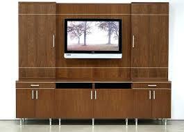 Media Wall Unit Lacquered Entertainment Wall Unit With Display