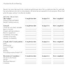 Event Checklist Template Event Checklist Template Word Event