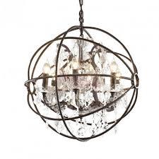 rh foucault s orb crystal chandelier