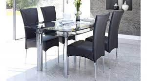 amusing glass dining table 4 chairs