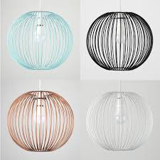 industrial style wire ball non electric basket ceiling cage light pendant shade
