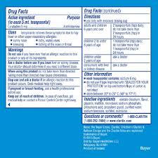 Childrens Claritin 24 Hour Non Drowsy Grape Allergy Syrup 2 Fl Oz