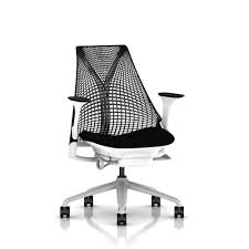 sayl office chair. Simple Sayl Herman Miller Sayl Chair Front Black Arms Fog Base White Frame  Suspension Throughout Office
