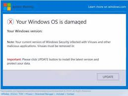 Windows Security Button Your Windows Os Is Damaged Fake Pop Up Scam How To Remove It
