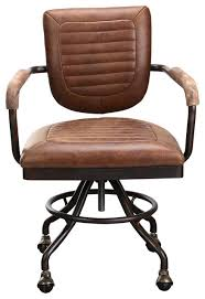 brown leather office chairs. Foster Desk Chair Soft Brown Industrialofficechairs Leather Office Chairs 5