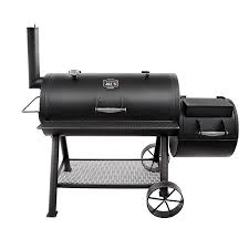 oklahoma joe s longhorn 1060 sq in black charcoal horizontal smoker