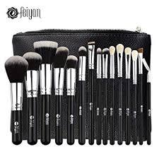 feiyan makeup brushes premium makeup brush set natural goat synthetic cosmetics kabuki foundation blending blush face
