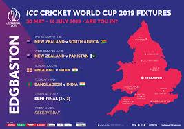 World Cup Tournament Chart Live Cricket Scores News Icc Cricket World Cup 2019