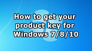 How To Get Your Product Key For Windows 7 8 10 Youtube