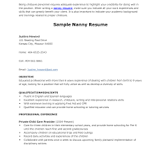 Nanny Resume Dreaded Nanny Resume Objective Sample Of Samples And Help 56