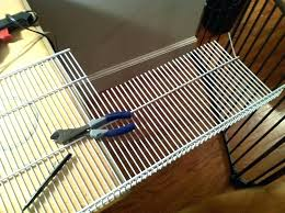 useful how to cut wire shelving u2403967 cut closetmaid wire shelving