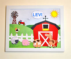 personalised 3d paper cut wall art farmyard theme 11 x 14 inch white frame on 3d paper cut wall art with personalised 3d paper cut wall art farmyard theme 11 x 14 inch
