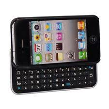Bluetooth QWERTY Keyboard Sliding Case for iPhone 5 5s Backlit