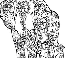 free elephant coloring page animals indian pages printable mandala colouring pages for kids